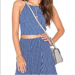 Privacy Please Gingham Tank and Skirt set.